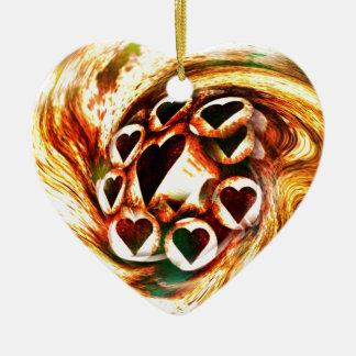 Wild Hearts Ceramic Ornament