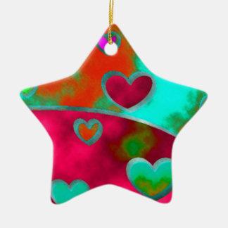 Wild Hearts!! Ceramic Ornament