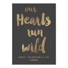 Wild hearts Valentine's Day Postcard at Zazzle