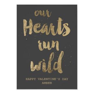 Wild hearts Valentine's Day Postcard 5x7 Paper Invitation Card