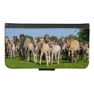 Wild Herd Grullo Color Dulmen Horses Foals Animal Samsung Galaxy S6 Wallet Case