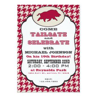 Wild Hog Birthday Invitation