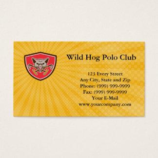 Wild Hog Polo Club Business Card