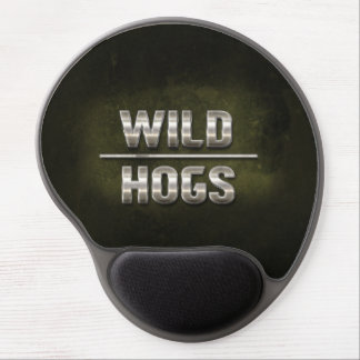 Wild Hogs Metal Text Gel Mouse Pad