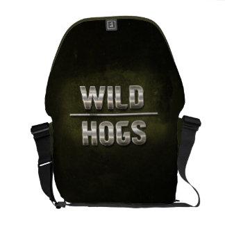 Wild Hogs Metal Text Messenger Bag