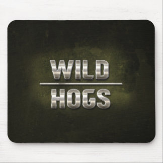 Wild Hogs Metal Text Mouse Pad