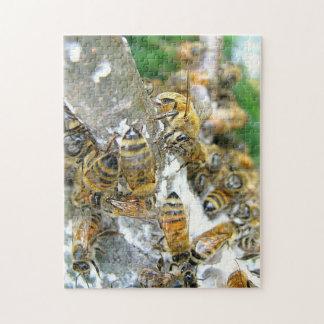 Wild Honeybees Up Close Jigsaw Puzzle