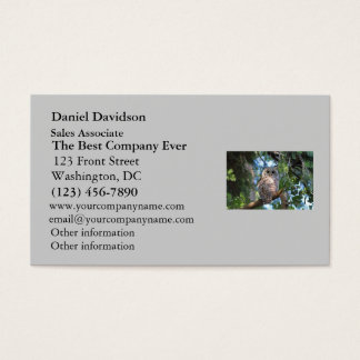 Wild Hoot Owl Staring in the Forest Business Card
