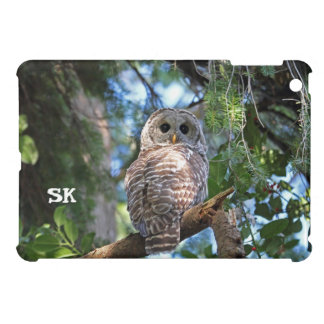 Wild Hoot Owl Staring in the Forest iPad Mini Case