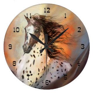 Wild Horse 2 Round Wall Clock