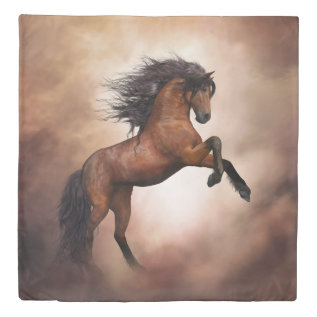 Wild Horse (2 Sides) Queen Duvet Cover at Zazzle