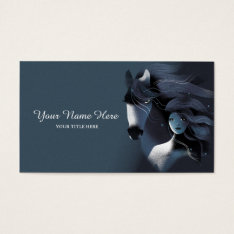 Wild Horse And A Girl Business Card at Zazzle
