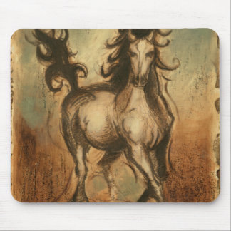 Wild Horse and Warm Colors Mouse Pad