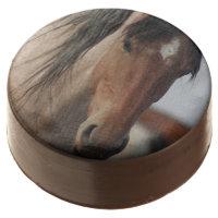 WILD HORSE CHOCOLATE COVERED OREO. CHOCOLATE DIPPED OREO