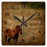 Wild Horse Clock Wall Clocks