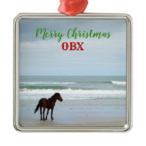 Wild Horse Corolla Outer Banks OBX Metal Ornament