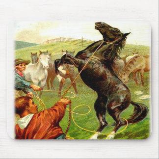Wild Horse Cowboy Mousepad