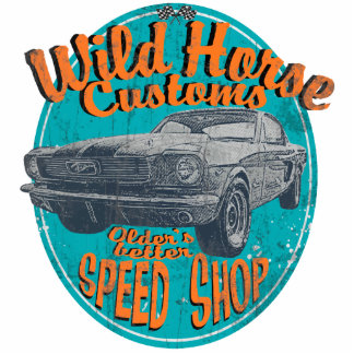 Wild horse customs cars acrylic cut outs