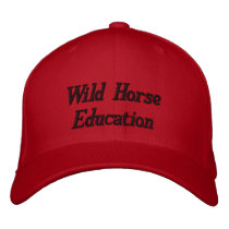 Wild Horse Education WHE Red Embroidered Baseball Cap