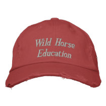 Wild Horse Education WHE Red & Silver Embroidered Baseball Cap