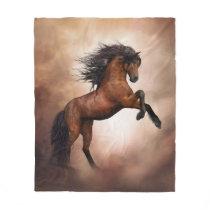 Wild Horse Fleece Blanket