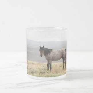 Wild Horse Frosted Glass Coffee Mug