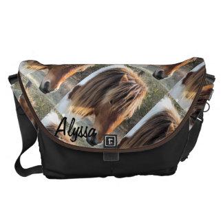 Wild horse head messenger bag