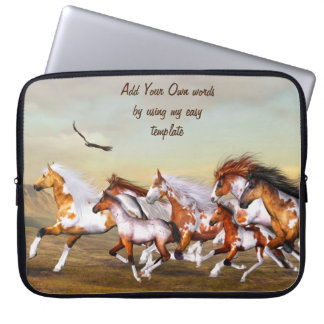 Wild Horse Herd Electronics Bag Laptop Sleeve