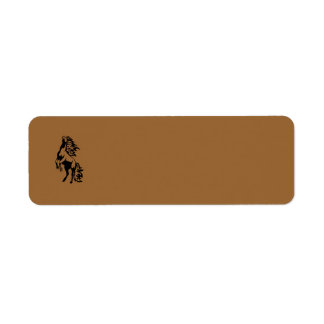 WILD HORSE ICON LOGO REARING ANIMALS POWERFUL LABEL