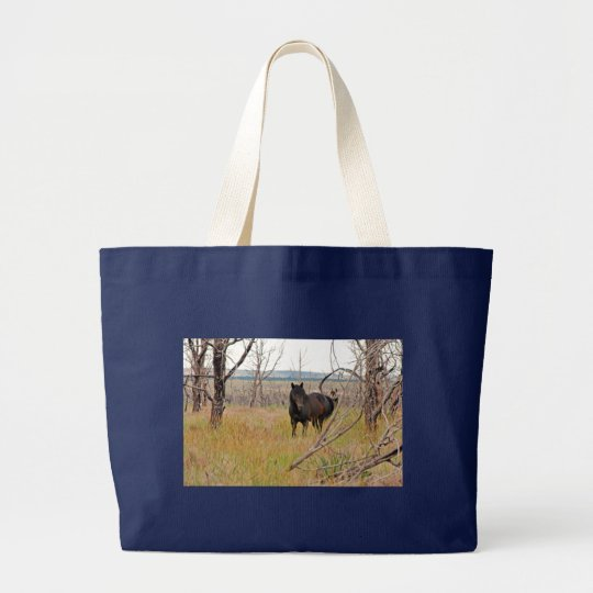 wild horse in Mesa Verde Large Tote Bag