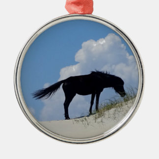 Wild Horse in OBX Metal Ornament