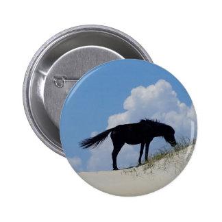 Wild Horse in OBX Pinback Button