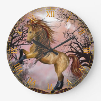 Wild Horse in the Woods Wall Clock