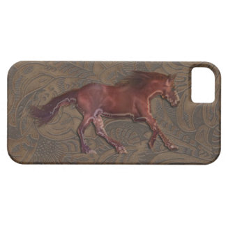 Wild Horse-lover Tooled Leather-look iPhone 5 Case