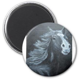 wild horse 2 inch round magnet