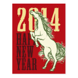 Wild Horse (New Year Card) Post Card