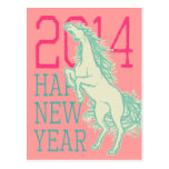 Wild Horse (New Year Card) Postcard