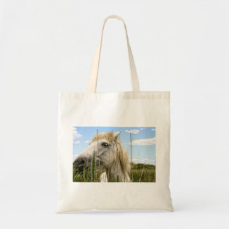 Wild horse of the Camargue Budget Tote Bag
