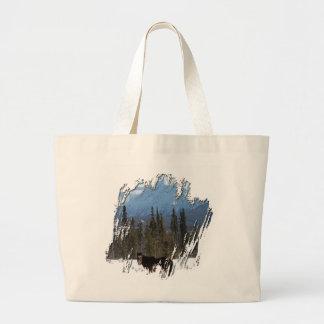 Wild Horse on Alaska Highway Canvas Bags