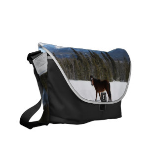 Wild Horse on Alaska Highway Commuter Bags
