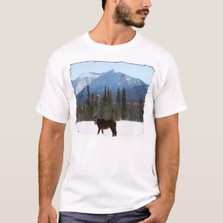 Wild Horse on Alaska Highway T-Shirt