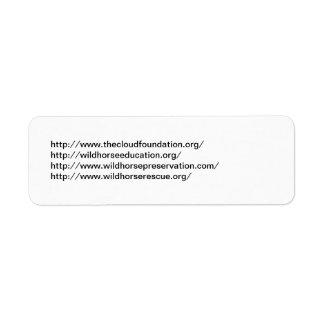 Wild Horse Org's Label