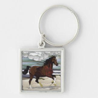 WILD HORSE PAINTING  KEY CHAIN