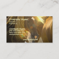 Wild Horse Photo Business Card