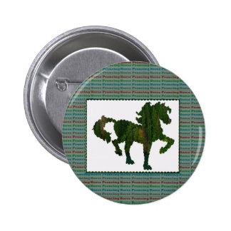 Wild Horse Prancing 2 Inch Round Button