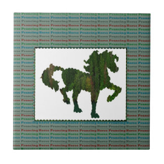 Wild Horse Prancing Small Square Tile
