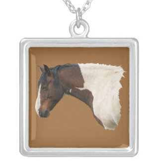 Wild Horse Profile Necklace