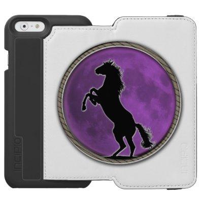 Wild Horse Purple Moon iPhone 6/6S Wallet Case