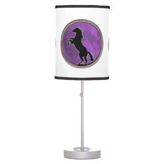 Wild Horse Purple Moon Table Lamp