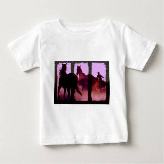 Wild Horse Roundup Triptych Baby T-Shirt